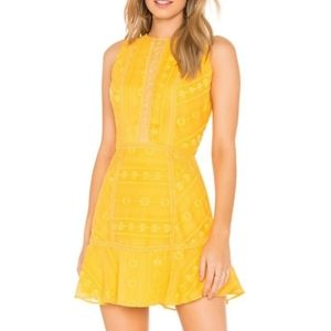 The Jetset Diaries Alynna Crochet Lace Mini Dress